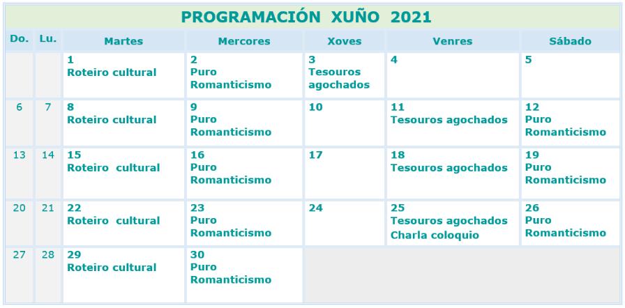 actividades xuño 2021 mondariz balneario