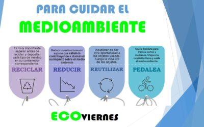 #EcoViernes: Reducir, reutilizar, reciclar y moverse en bici