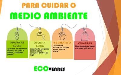 #EcoVenres: Reducir o consumo de auga, luz e envases