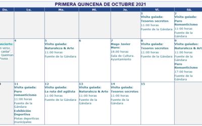 Actividades culturales en la primera quincena de Octubre en Mondariz Balneario