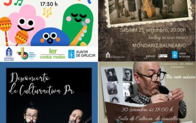 Actividades culturales de septiembre en Mondariz Balneario