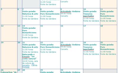 Calendario cultural de Mondariz Balneario para setembro de 2021