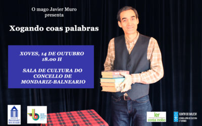 14 de octubre, nueva fecha para la actuación «Xogando coas palabras» del mago Javier Muro