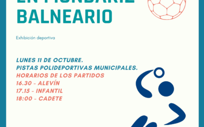 Exhibición deportiva del Clube de Balonmán a Cañiza el lunes 11 de octubre