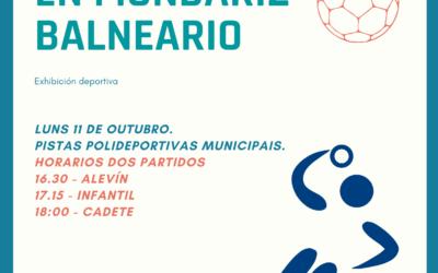 Exhibición deportiva do Clube de Balonmán a Cañiza o luns 11 de outubro