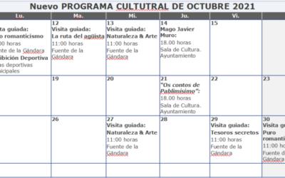 Programa cultural y turístico del 11 al 31 de octubre