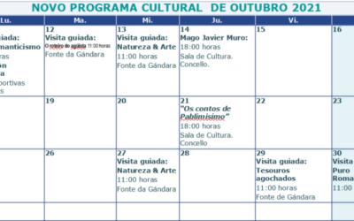 Programa cultural e turístico do 11 ao 31 de outubro